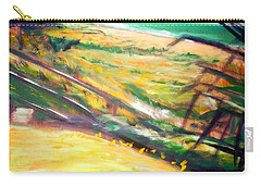 Carry-all Pouch featuring the painting From The Lawn Pandanus by Winsome Gunning