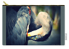 From The Series Great Blue Number 1 Carry-all Pouch