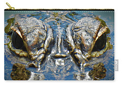 From The Series I Am Gator Number 7 Carry-all Pouch