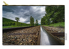 Carry-all Pouch featuring the photograph From The Track by Darcy Michaelchuk