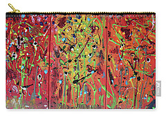 Carry-all Pouch featuring the painting Warm October Day by Pam Roth O'Mara