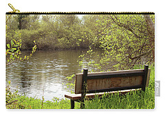 Carry-all Pouch featuring the photograph Front Row Seat by Art Block Collections