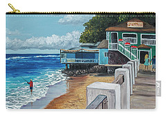Carry-all Pouch featuring the painting Front Street Lahaina by Darice Machel McGuire