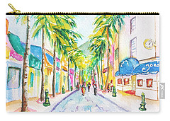 Front Street Philipsburg St. Maarten  Carry-all Pouch