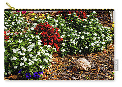 Carry-all Pouch featuring the photograph Front Yard Flowers by Randy Sylvia