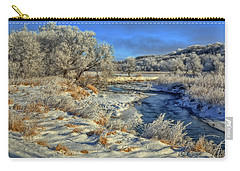 Frost Along The Creek Carry-all Pouch by Bruce Morrison