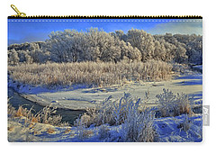 Frost Along The Creek - Panorama Carry-all Pouch by Bruce Morrison
