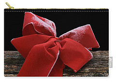 Carry-all Pouch featuring the photograph Frosted Bow by Nikolyn McDonald