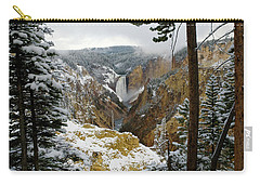 Carry-all Pouch featuring the photograph Frosted Canyon by Steve Stuller