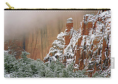 Frosted Cliffs In Zion Carry-all Pouch