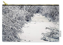 Carry-all Pouch featuring the photograph Frosted Feeder by Kendall McKernon
