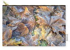 Frosted Leaves 8x10 Carry-all Pouch