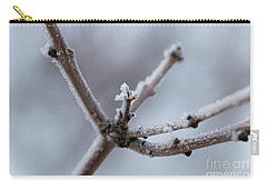 Carry-all Pouch featuring the photograph Frosted Morning by Ana V Ramirez