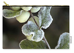 Frosted Snowberries Carry-all Pouch