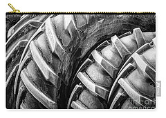 Carry-all Pouch featuring the photograph Frosted Tires by Brad Allen Fine Art