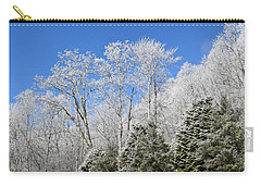 Frosted Trees Blue Sky 1 Carry-all Pouch