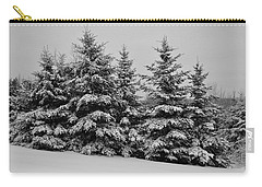 Carry-all Pouch featuring the photograph Frosted Trees by Kathleen Sartoris