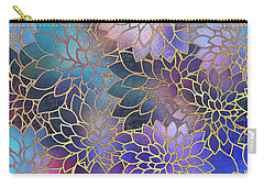 Carry-all Pouch featuring the digital art Frostwork Fantasy by Klara Acel