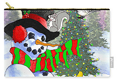 Frosty And Friends Carry-all Pouch