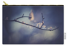 Carry-all Pouch featuring the photograph Frosty Branch by Shane Holsclaw
