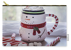 Carry-all Pouch featuring the photograph Frosty Christmas Mug by Kim Hojnacki