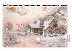 Carry-all Pouch featuring the painting Frosty Creek by Mo T