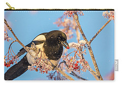 Frosty Magpie Carry-all Pouch