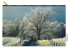 Frosty Morning On Sparks Lane Carry-all Pouch