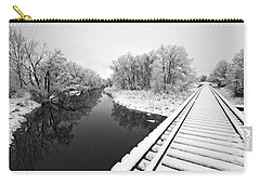 Carry-all Pouch featuring the photograph Frosty Morning On The Poudre by James Steele