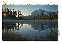 Carry-all Pouch featuring the photograph Frosty Picture Lake by Dan Mihai