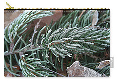 Frosty Pine Branch Carry-all Pouch