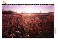 Carry-all Pouch featuring the photograph Frosty Sunrise by Lars Lentz