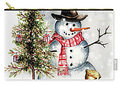Frosty The Snowman Greeting Card Carry-all Pouch