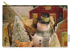 Carry-all Pouch featuring the painting Frosty The Snowman by Mo T