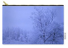 Frosty Trees At Night Carry-all Pouch