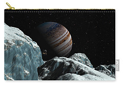 Frozen Blue Gem Carry-all Pouch by David Robinson