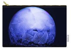 Frozen Bubble Art Blue Carry-all Pouch