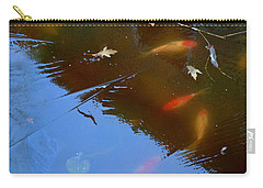 Carry-all Pouch featuring the photograph Frozen Carp by Richard Ricci
