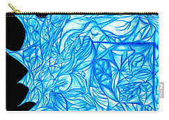 Carry-all Pouch featuring the drawing Frozen Desire by Jamie Lynn