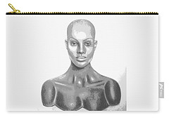 Superficial Bald Woman Art Charcoal Drawing  Carry-all Pouch