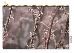 Carry-all Pouch featuring the photograph Frozen Garden by Ana V Ramirez
