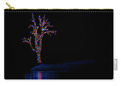 Frozen Lights Across The Lake Carry-all Pouch