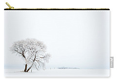 Carry-all Pouch featuring the photograph Frozen Morning by Yvette Van Teeffelen