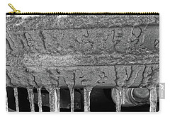 Carry-all Pouch featuring the photograph Frozen Road Warrior by Robert Knight