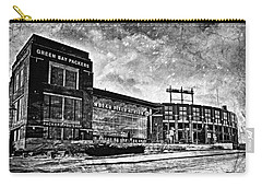 Frozen Tundra - Black And White Carry-all Pouch