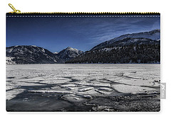Carry-all Pouch featuring the photograph Frozen Wallowa Lake by Cat Connor