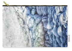 Carry-all Pouch featuring the photograph Frozen Waterfall Gullfoss Iceland by Matthias Hauser