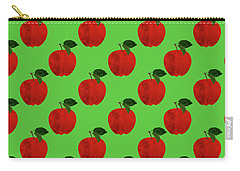 Fruit 02_apple_pattern Carry-all Pouch by Bobbi Freelance