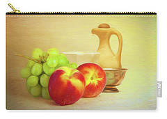 Fruit And Dishware Still Life Carry-all Pouch