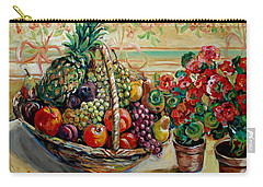 Fruit Basket Carry-all Pouch by Alexandra Maria Ethlyn Cheshire